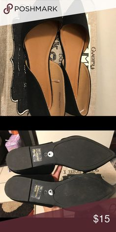 Black pointy flats Great condition, only used once Brand: Charlotte Russe Size 8 Charlotte Russe Shoes Flats & Loafers