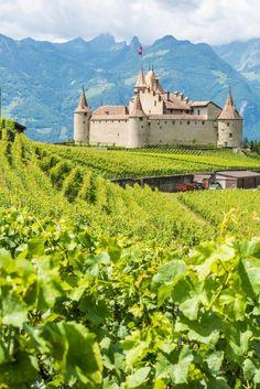 Aigle Castle, Switzerland.