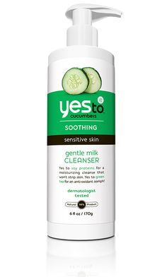 Yes to Cucumbers Gentle Milk Cleanser is perfect for you sensitive types, made with all natural, calming ingredients for a smoothing cleanse that will leave your skin feeling fresh and clean.