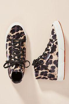 e731a16f88b Superga Leopard-Printed Velvet High-Top Sneakers