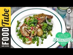 ▶ Healthy Pork Escalope with Super Greens   Jamie Oliver   #10HealthyMeals - YouTube