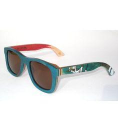 074b890ebf Recycled skateboard sunglasses with Italian polarized lenses. One ...  Polarized Sunglasses
