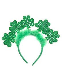 Get as green as possible this Saint Patrick s Day! Add this sequin shamrock  headband to 2b783fe1e4a0