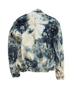 Hand-Bleached Denim Jacket