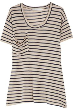 oversized striped modal t-shirt.