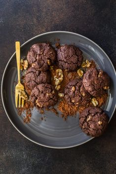 Chocolate Walnut Cookies - Wolesome Patisserie