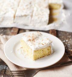 coconut tres leche cake | pretty plain janes