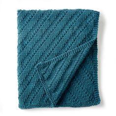 blanket reversible free knitting pattern