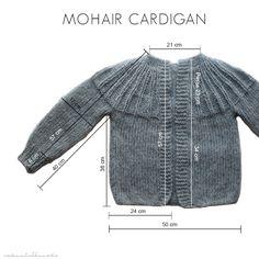 Hier nun dieAnleitung zu meinem Mohaircardigan. Im Post zuvor  habe ich geschrieben, dass ich die Jacke zu lang finde. Die Anle...