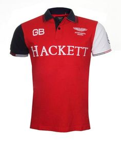 Men's Hackett Aston Martin GB Print Polo Shirt 3 Colourway Designer Top UK S-XL