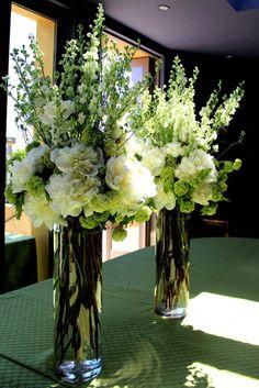 tall floral arrangements | Tall Flower Arrangements For Weddings | The elegant tall centerpieces ...