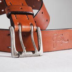 New Brown leather belt.... personalize your belt, get your initials for.  Cuir Pleine FleurCeintureCeintures ... 8d173664057