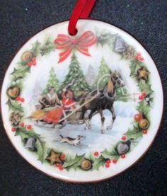 Royal Albert 1989 Christmas Sleighride  Ornament