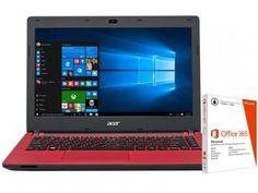 "Notebook Acer Aspire ES1-431-C494 Intel Quad Core - 4GB 500GB LED 14"" + Pacote Office 365"