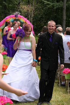Angela & Nick's candy-filled, colorsplosion wedding