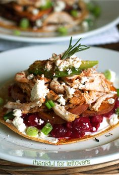Thanksgiving Leftovers Tostadas: a delish way to use those leftovers! | MarlaMeridith.com ( @marlameridith )