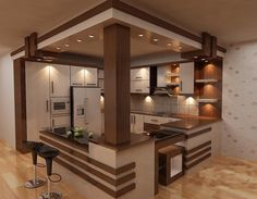 40 Awesome Craftsman Style Kitchen Design Ideas – Best Home Decorating Ideas Kitchen Room Design, Modern Kitchen Design, Home Decor Kitchen, Interior Design Living Room, Kitchen Ideas, Kitchen Wood, Open Kitchen, Nice Kitchen, Beautiful Kitchen