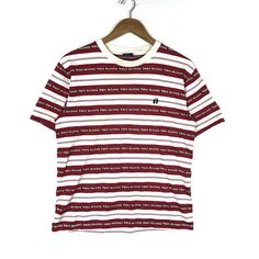 14ee3368 HANG TEN Embroidery Small Logo Hang Ten Stripe Shirt Surf Style Hang Ten  Men's Clothing Stripe Shirt Size Medium