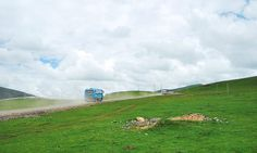 The Bus on the Seda Grassland