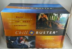 New CHILL BUSTER Self-Contained Rechargeable Heated Blanket Cold Weather Gear  #GRIChillBuster