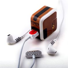 Funny - stickers that go on your iPod/phone accessories to jazz them up.... cute!