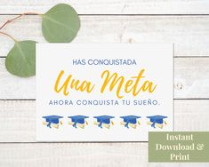 Spanish Graduation Card Printable, Felicidades, Tarjeta de Graduacion, Tarjeta en Espanol, Digital Download Congratulations Baby Boy, Printable Cards, Printables, Birthday Cards, Happy Birthday, New Baby Cards, Graduation Cards, Welcome Baby, New Baby Products