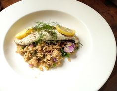 Domestic Sluttery: Speedy Suppers: Easy Baked Sea Bass with Couscous