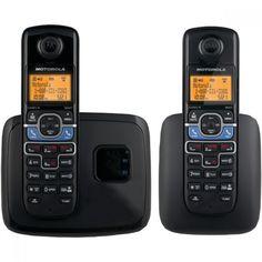MOTOROLA L702BT DECT 6.0 2-Handset Cordless Phone System with Bluetooth(R) Link