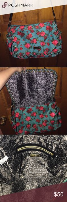 Betsey Johnson over the shoulder backback Bag! Lightly Used! Awesome Bag! Betsey Johnson Bags Shoulder Bags