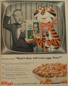Garry  Moore and Tony: Kelloggs 1954 SUGAR FROSTED FLAKES