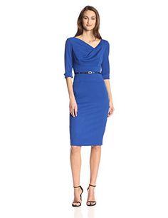 Women's Wear To Work Black Halo Women's 3/4 Sleeve Jackie O Dress www.weartowork.us #weartowork #dress
