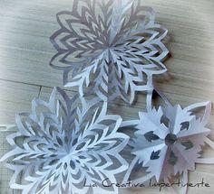 La Creativa Impertinente: Fiocco di Neve con la Carta: tutorial, natale e riciclo