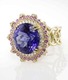 Erica Courtney | 18k gold with tanzanite and pink pink sapphire