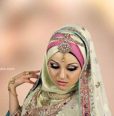 #HijabiBride #SouthAsianBride இ Hijabi South Asian Brides