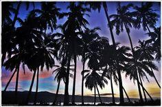 Welcoming sunrise in Pulau Pisang.