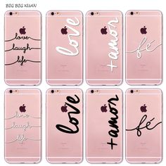 Unique For iPhone 7 6 6S 5 5S SE 7Plus 6Plus 6sPlus 4S Phone Case Portuguese Words Love Amor Design Soft Silicon Coque Capa Para <3 This is an AliExpress Affiliate Pin. La oferta se puede encontrar haciendo clic en la VISITA botón