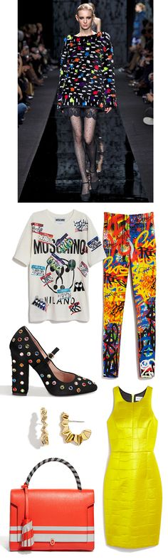 The 80s are back with #Moschino, #DVF, #Milly and more. #SaksStyle