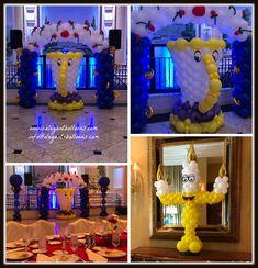 Beauty and the Beast balloon decor