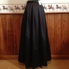 Hampton Nites Black Poly Full Formal Skirt Sz 4 0286   eBay