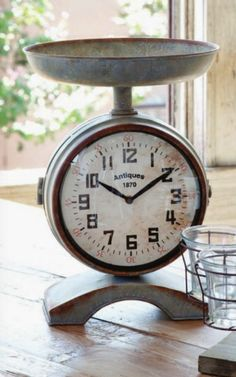 vintage clock scale from Farmhouse Wares