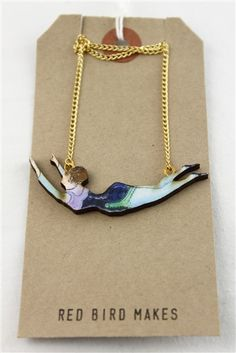 Swinging Acrobat Necklace by Red Bird Makes