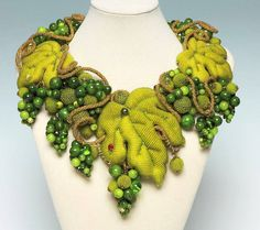 Seed Bead Jewelry    1st Place – Delicious Chardonnay 2012 by  Irina Rudneva, Russia