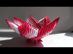 How to make 3d origami Vase - YouTube