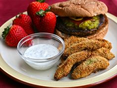 Avocado Fries {Baked} with Cilantro Ranch Dipping Sauce by E is for Eat