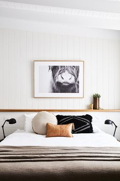 Adore Magazine | Farmhouse with Soul | Neutral Bedroom with Animal Art - pinned by www.youngandmerri.com