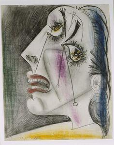 Cabeza llorando (VI). Postscripto de «Guernica» 1937 PP