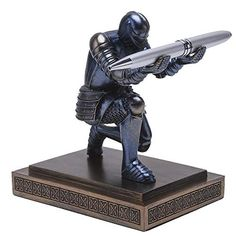 Amoysanli Knight Pen Holder Desk Organizers and Accessories Desk Decor Resin Pen Holder as Gift with a Cool Pen for O... Pencil Holder, Pen Holders, Amazon Prime Free Shipping, Best Pens, Desk Organization, Desk Accessories, Bookends, Knight, Resin