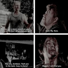 First and last words of Abraham and Glenn... The Walking Dead, Season 7