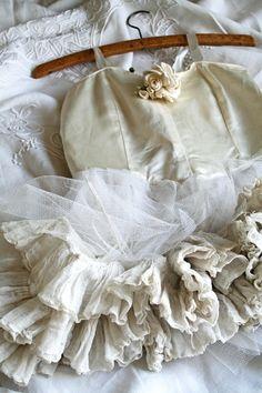 Adorable flower girl dress for Vintage wedding