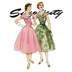 1950s Full Skirt Dress Pattern Simplicity 1617 Bust by CynicalGirl, $38.00